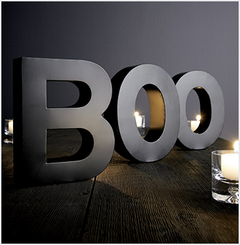 Set of 3 Halloween BOO Letters