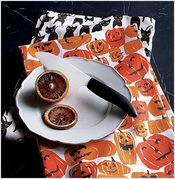 Halloween Cats & Pumpkins Dish Towels Set of Two